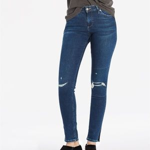 Lucky Brand Lolita Skinny Jean With Side Slit Hem